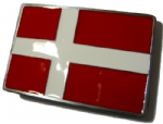 Denmark Scandinavian cross Danish danske bæltespænde Flag Belt Buckle with display stand. Code TT4